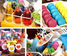 Festa Arco-Íris : Festa infantil tema Arco-Íris. Contato: nanda@sitiovoceeeu.com.br | fernanda_frazao Rainbow Party Decorations, Polymer Clay Art, Rainbows, Ideas Party, Kids Part