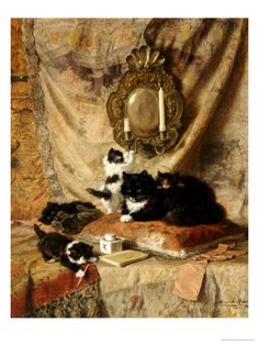 Work Rest and Play 1896 Giclee Print by Henriette Ronner-Knip at Art.com