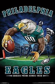 Philadelphia Eagles Eagles Pride Since 1933 End Zone Td Dive Nfl Art Poster Nfl Flag, Nfl Football Teams, Football Art, Football Memes, Sports Memes, Football Signs, Youth Football, Funny Sports, Nfl Sports