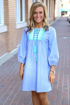 Just a Game Dress: Blue - Off the Racks Boutique