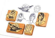 Star Wars 2 - Hand carved rubber stamp set