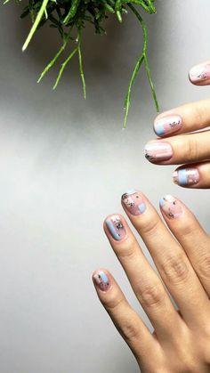 Nail Art Designs, Colorful Nail Designs, Acrylic Nail Designs, Nails Design, Acrylic Art, Blue Nails, My Nails, Pastel Nails, Red Nail