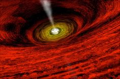 Evidence for a spinning black hole. Image credit: NASA