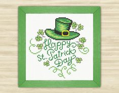 Happy St. Patrick Day Cross Stitch Pattern PDF by TimeForStitch