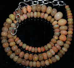 "61 Crts 1 Strands 4 to 8 mm 14"" Beads necklace Ethiopian Welo Opal  AA+++43016"