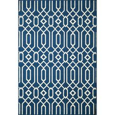 Create the ultimate indoor/outdoor oasis with this trend-conscious area rug. Featuring a bold yet simple graphic pattern, this area rug brings a refreshing twist of runway fashion to liven up any space.