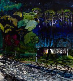 redlipstickresurrected:  William Mackinnon (Australian, b. 1978, Melbourne, Australia) - Moonlight II, 2014  Paintings: Acrylics, Oil, Automotive Enamel on Synthetic Linen