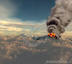 Erupting Of Volcano - Download From Over 29 Million High Quality Stock Photos, Images, Vectors. Sign up for FREE today. Image: 14354830