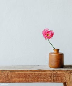Pink peony in a vase by the wall | premium image by rawpixel.com / Jira Beautiful Bouquet Of Flowers, Exotic Flowers, Rose Vase, Flower Vases, Pink Peonies, Peony, Asiatic Lilies, Cool Photos, Amazing Photos