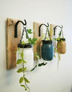 Wall decor-Individual Hanging Painted by PineknobsAndCrickets
