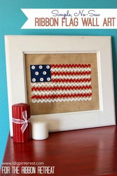 Ribbon Flag Wall Art - The Ribbon Retreat Blog