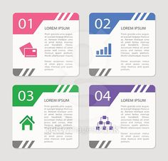 Design number banners template. Vector
