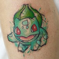 Bulbasaur watercolor tattoo