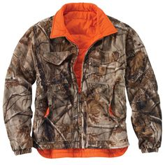 Men's Carhartt Woodsville Jacket reverses from a quilted nylon to a fleece camo. Be stylish, warm and ready for the outdoors or hunting in the woods with this great Carhartt lightweight, yet warm jacket. Carhartt Detroit Jacket, Carhartt Jacket, Camo Outfits, Casual Outfits, Casual Clothes, Hunting Jackets, Hunting Gear, Cold Weather Gear, Rain Gear