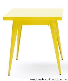 Basic Collection, 55 table #furniture #table #yellow #metal #concrete #dining #design