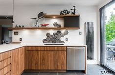 Groupe Cartier - Cuisines Cartier projects and references in creating or renovating kitchens in Montreal Commercial Kitchen, Cuisines Design, Cartier, Kitchen Design, Kitchen Ideas, Kitchen Cabinets, Luxury, Decoration, Projects