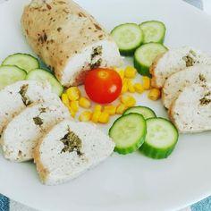 Éhezésmentes karcsúság Szafival - Házi csirkemell sonka Cobb Salad, Paleo, Baking, Fitt, Recipes, Lunch Ideas, Breakfast Ideas, Red Peppers, Bakken