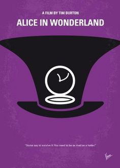 No140 My Alice in Wonderland minimal movie poster  Nineteen-year-old Alice returns to the magical world from her childhood adventure, where she reunites with her old friends and learns of her true destiny: to end the Red Queen's reign of terror.  Director: Tim Burton Stars: Mia Wasikowska, Johnny Depp, Helena Bonham Carter   Alice, Wonderland, Tim, Burton,Johnny, Depp,magical, world,Red, Queen,Mad, Hatter,White, Rabbit, Underland, surreal,