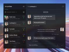 Simple Chat UI by Pierre Marais