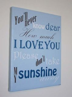 You Are My Sunshine Canvas Art Prints by FrogsAndFairytales, $24.50