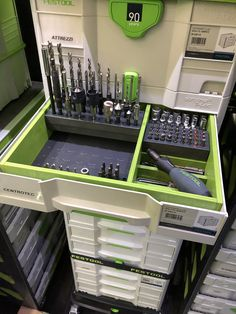 Workshop Storage, Garage Workshop, Tool Storage, Festool Tools, Festool Systainer, Wood Tool Box, Wood Tools, Woodworking Garage, Garage Organization
