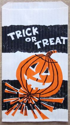 Vintage Halloween Treat Bag.