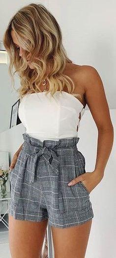 Ideas Fashion Casual Chic Summer Shorts For 2019 Cute Casual Outfits, Cute Summer Outfits, Short Outfits, Pretty Outfits, Stylish Outfits, Summer Shorts, Short Dresses, Casual Summer Clothes, Casual Summer Fashion