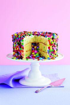 Smarties-kage, dessert, opskrift, kage