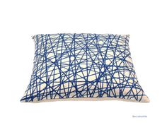Linen cushion by BeccaTextile. Geometric cushion cover.