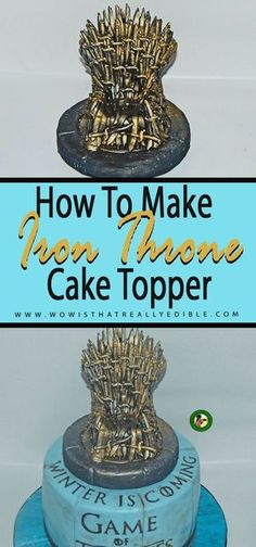 How to make an Edible Game of Thrones Iron Throne Cake Topper ~ Wow! Is That Really Edible?