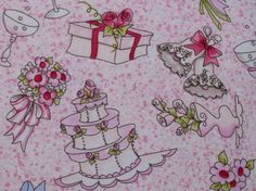 wedding fabric for quilting | Cotton Novelty Fabric, Wedding Stuff, by Loralie Designs