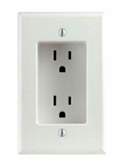 Outlets So Things Can Be Flush Against Wall