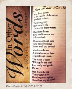 Poem published in May 2013.