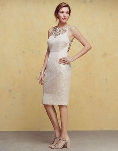 Darshini Dress | Gold | Monsoon