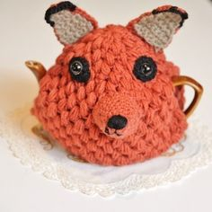 Whiskers Lane — 'Mr Foxy' Crochet Teapot Cosy