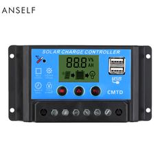 10A 12V/24V LCD Solar Charge Controller with Auto Regulator Timer for Solar Panel Battery Lamp LED Lighting Overload Protection