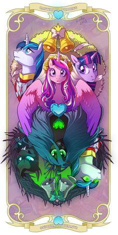 MLP Villains - Queen Chrysalis by sandara on DeviantArt Mlp My Little Pony, My Little Pony Friendship, Queen Chrysalis, Mlp Characters, Little Poni, Mlp Fan Art, My Little Pony Pictures, Pony Drawing, Mlp Pony