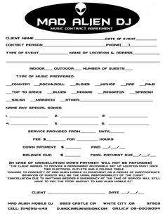 DJ WaveJammer/WaveJammer Entertainment - dj contract | Legal ...