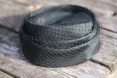 Vintage Black Pillbox Hat on Etsy, #pillboxhat #easyhatblocks