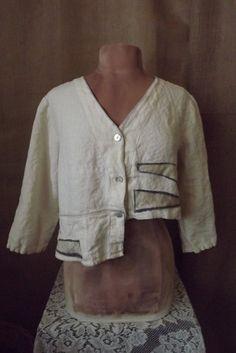 Upcycled Washed Linen Jacket