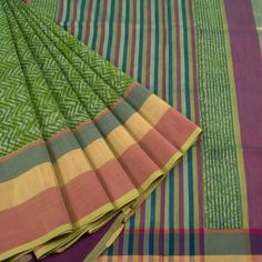Khoj Hand Block Printed Maheshwari Silk Cotton Saree 10006561 - profile - AVISHYA.COM