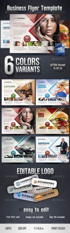 Business Flyer Template - Corporate Flyers Download here: https://graphicriver.net/item/business-flyer-template/2969515?ref=classicdesignp