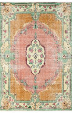 Overdye ACC645 Orange Rug | Traditional Rugs #RugsUSA