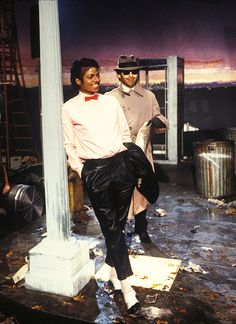 """MJ, on the set of his """"Billie Jean"""" video"""
