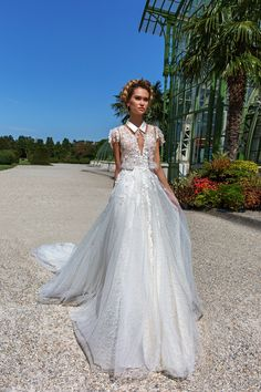 0fe119c138563 sleeved shirt cover up ball gown by Crystal Design Couture Garden Wedding  Dresses