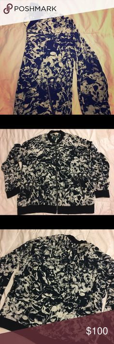 NWT AG Mistral Silk Bomber Floral Jacket LG Brand New With Tags - Adriano Goldschmied silk jacket #smokefree #freeshipping #agjeans Ag Adriano Goldschmied Jackets & Coats