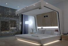 High tech bedroom design