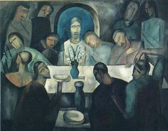 The Last Supper of Jesus : Andre Derain : Cubism : religious painting - Oil Painting Reproductions Andre Derain, Henri Matisse, Religious Paintings, Religious Art, Maurice De Vlaminck, Cubism Art, Last Supper, Paul Cezanne, Art Institute Of Chicago