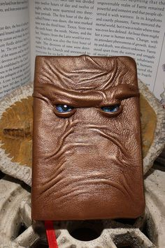 Mythical Beast Book (Bronze leather with Blue eyes)