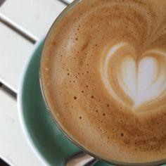 Latte from Bluestone Lane Coffee in SoHo (Photo by Julie Bogen)
